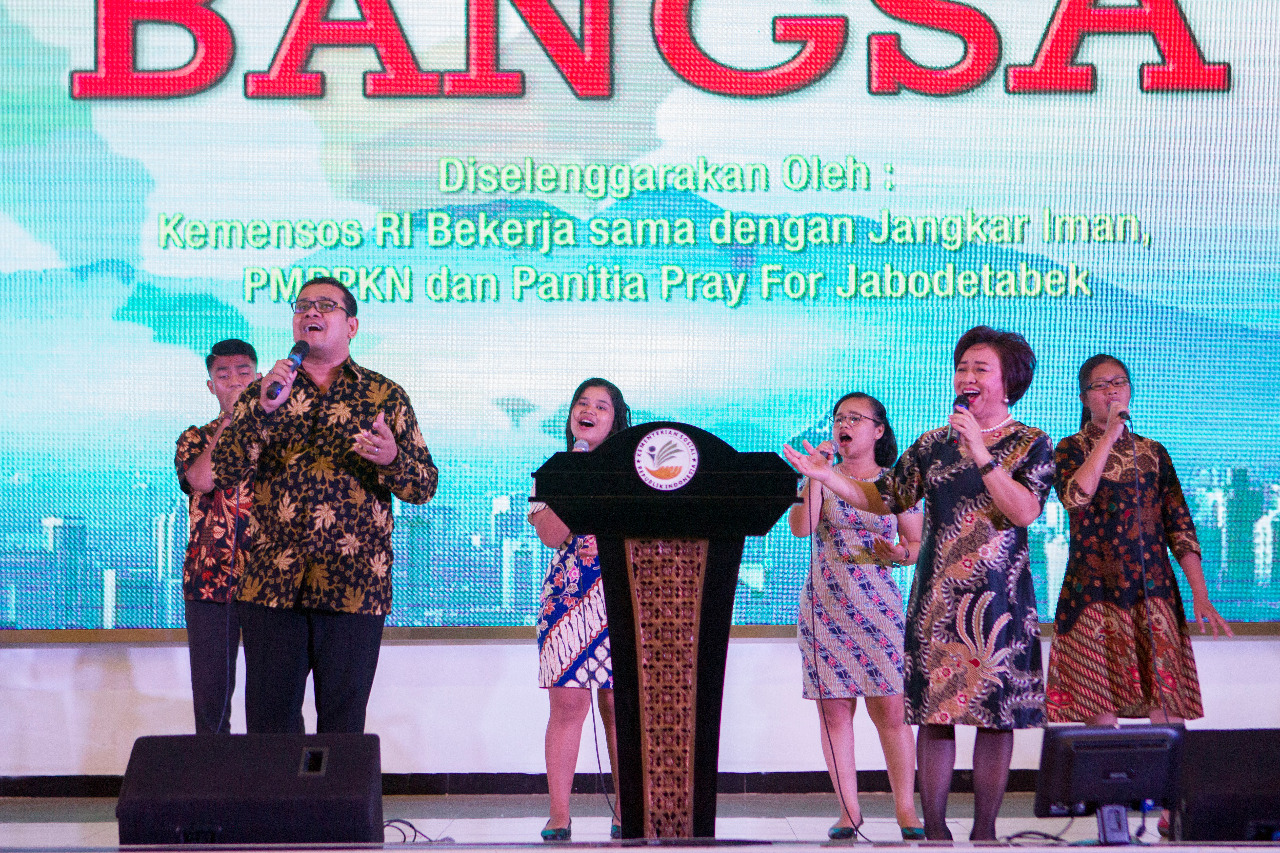 Prayer For The Nation At The Ministry Of Social Services, Republic Of Indonesia